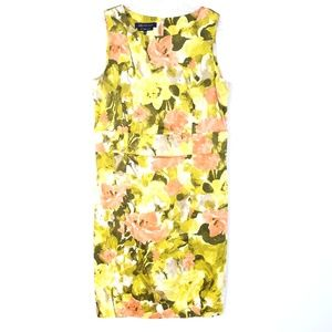 ANNE KLEIN Sheath Dress Sleeveless Cotton Stretch